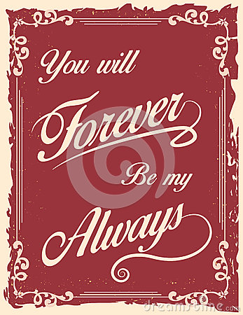 Free Vintage Poster With Love Quote Royalty Free Stock Photo - 49729715