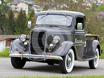 Vintage pre war car Ford Pick-up from  1936 Editorial Stock Image