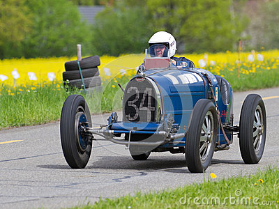 Vintage pre war race car Bugatti T Editorial Stock Image