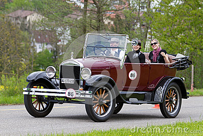 Vintage pre war race car Ford T Tourer from  1926 Editorial Photography
