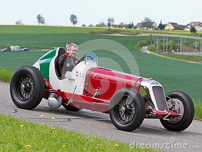 Vintage pre war race car Maserati Editorial Stock Photo