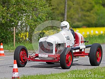 Vintage pre war race carFord Ermer Editorial Photo