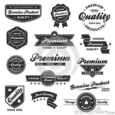 Free Vintage Premium Badges Stock Images - 21765624