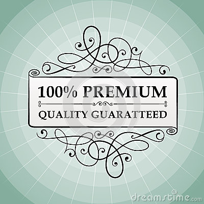 Vintage 100  premium quality guaranteed label