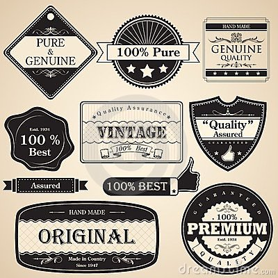 Vintage Premium Quality Label