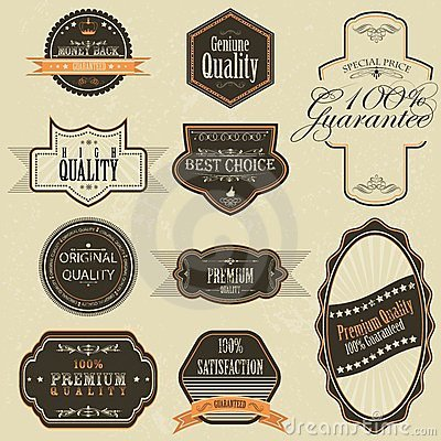 Vintage Premium Quality Label