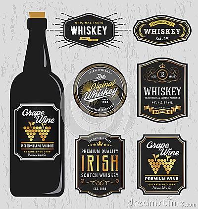 vintage premium whiskey brands label design stock photo image 60355174. Black Bedroom Furniture Sets. Home Design Ideas