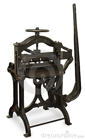 Free Vintage Printing Press Royalty Free Stock Photo - 2762025