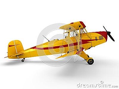 Vintage propeller biplane