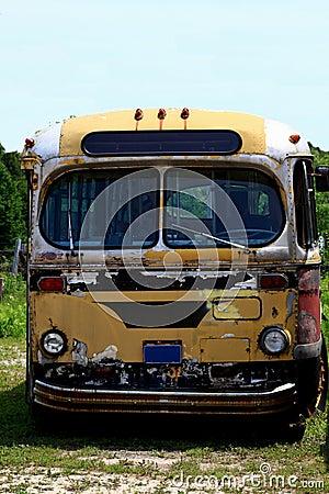 Vintage Public Transportation Vehicle - Bus.