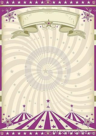 Vintage purple circus