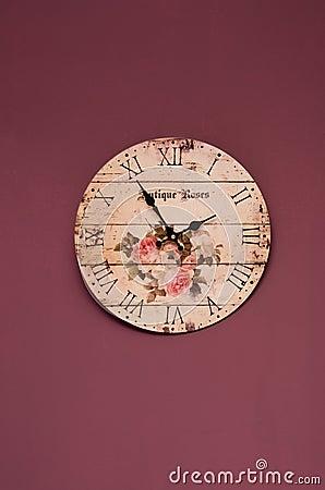 Vintage purple clock