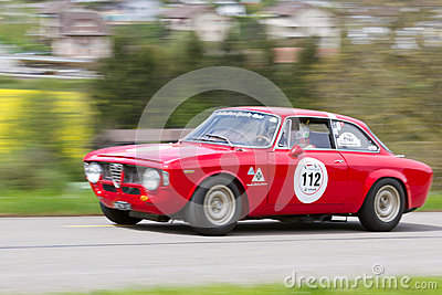 Vintage race touring car Alfa Romeo Editorial Stock Image