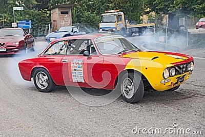 Vintage racing car Alfa romeo GTV 2000