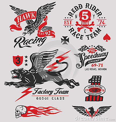 Free Vintage Racing Insignia Graphics Royalty Free Stock Images - 69524599