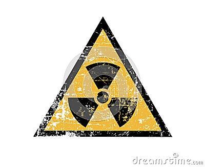 Vintage radiation sign