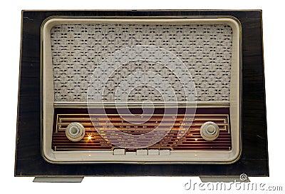 Vintage radio on
