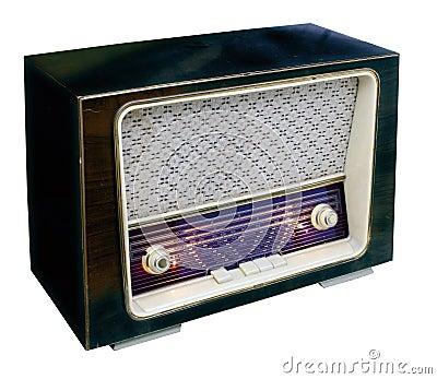 Vintage radio top