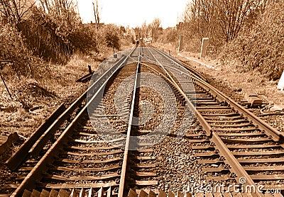 Vintage rail track