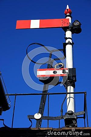 Vintage railway signal
