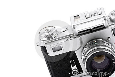 Vintage rangefinder analog camera