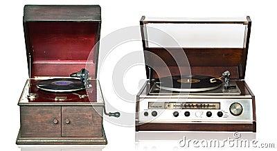 Vintage record playe