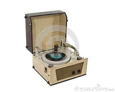 Vintage Record Player from the 1960 s