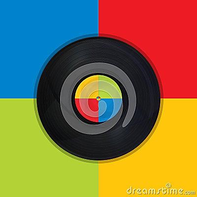 Vintage record Pop Art