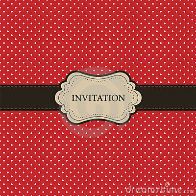 Free Vintage Red Card, Polka Dot Design Stock Photography - 19848822