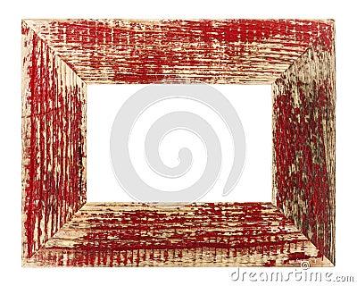 Vintage red picture frame