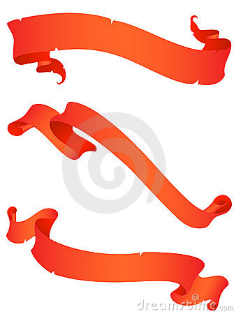 Vintage red ribbons