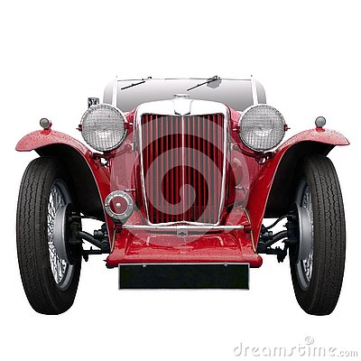 Free Vintage Red Sports Car Royalty Free Stock Photo - 4027425