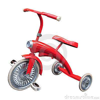 Free Vintage Red Tricycle Royalty Free Stock Photos - 18945748