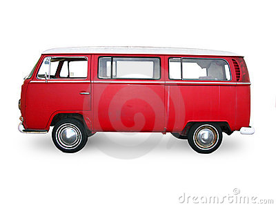 Vintage Red Van Stock Photo - Image: 9218190