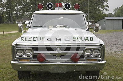 Vintage Rescue Squad Car Editorial Stock Image