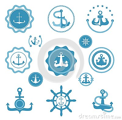 Free Vintage Retro Anchor Vector Icons And Label Sign Of Sea Marine Ocean Graphic Element Nautical. Marine Anchor Emblem Stock Photo - 111210890
