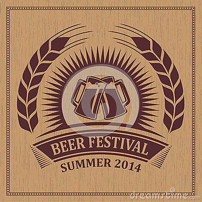 Vintage retro beer festival icon symbol - vector design