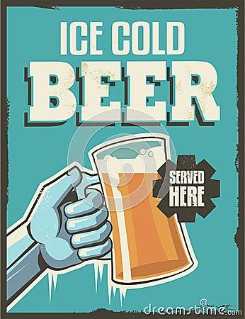 Free Vintage Retro Beer Poster Royalty Free Stock Photos - 39357238