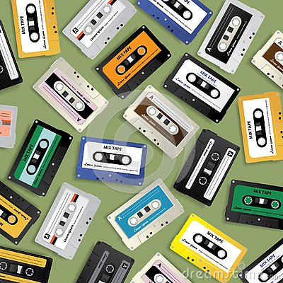 Free Vintage Retro Cassette Tape Pattern Design Template Royalty Free Stock Images - 144967879