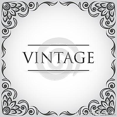 Vector vintage frame stock photo image 29824900 - Marcos vintage para fotos ...