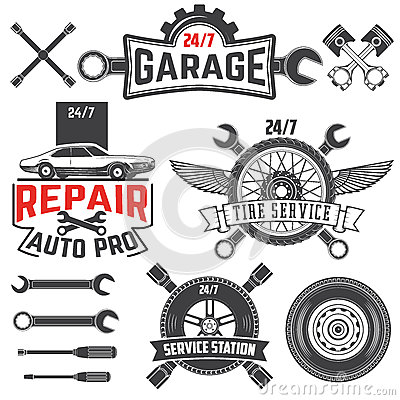 Vintage Retro Grunge Car Labels Stock Vector Image 64026840