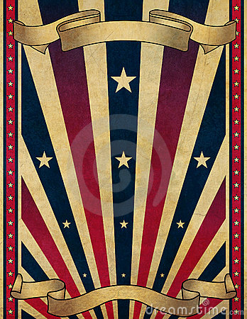 design of a retro style poster or play-bill background or templateVintage Americana Background