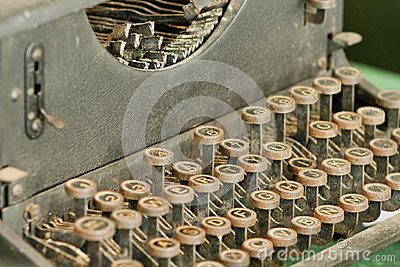 Vintage retro typewriting machine