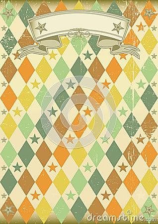 Free Vintage Rhombus Pattern Poster Royalty Free Stock Image - 18396316
