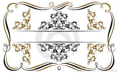 Vintage ribbon emblem