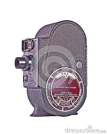 Vintage roll film movie camera