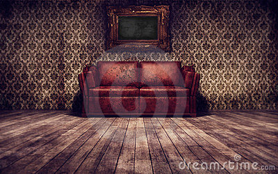 Vintage room background
