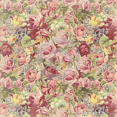 Free Vintage Rose Background Stock Images - 30809074