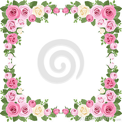 Free Vintage Roses Frame. Vector Illustration. Stock Photos - 29669123