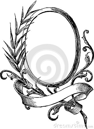 Vintage round frame stock photography image 31013312 for Image miroir photoshop